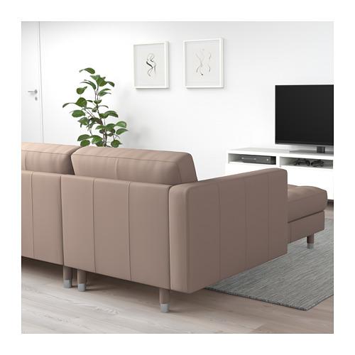 LANDSKRONA - 5-seat sofa, with chaise longues/Grann/Bomstad dark beige/metal | IKEA Hong Kong and Macau - PE712915_S4