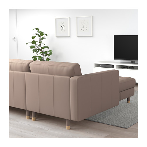 LANDSKRONA - 3-seat sofa, with chaise longue/Grann/Bomstad dark beige/wood | IKEA Hong Kong and Macau - PE712916_S4