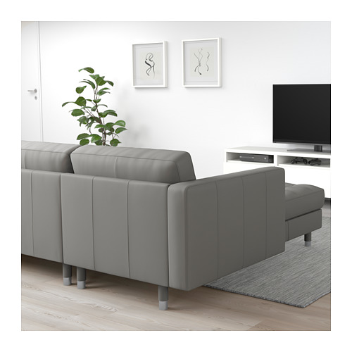 LANDSKRONA - 3-seat sofa, with chaise longue/Grann/Bomstad grey-green/metal | IKEA Hong Kong and Macau - PE712918_S4
