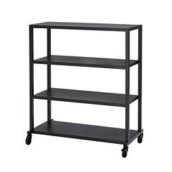 RÅVAROR - storage unit on castors, black | IKEA Hong Kong and Macau - PE781319_S3