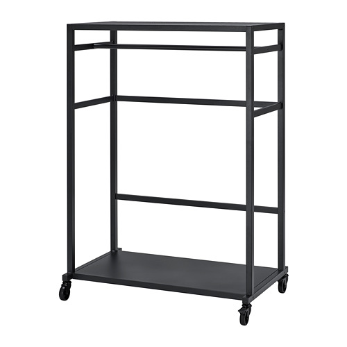 RÅVAROR - storage unit on castors, black | IKEA Hong Kong and Macau - PE781321_S4