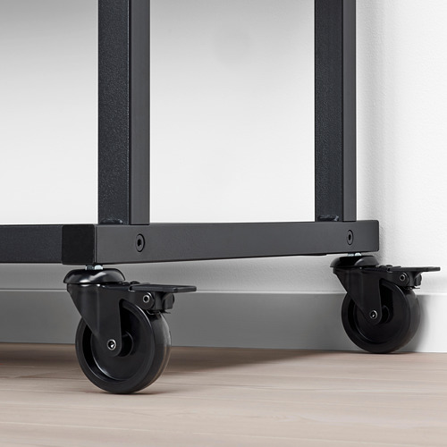 RÅVAROR - storage unit on castors, black | IKEA Hong Kong and Macau - PE781320_S4