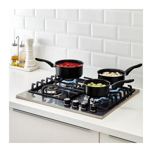 KAVALKAD - 平底鍋,3件套裝, 黑色 | IKEA 香港及澳門 - PE609829_S4