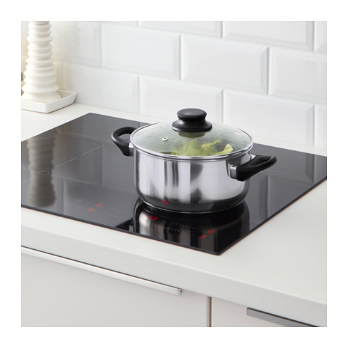 ANNONS - 連蓋鍋2.8 升,玻璃/不銹鋼   IKEA 香港及澳門 - PE609839_S4