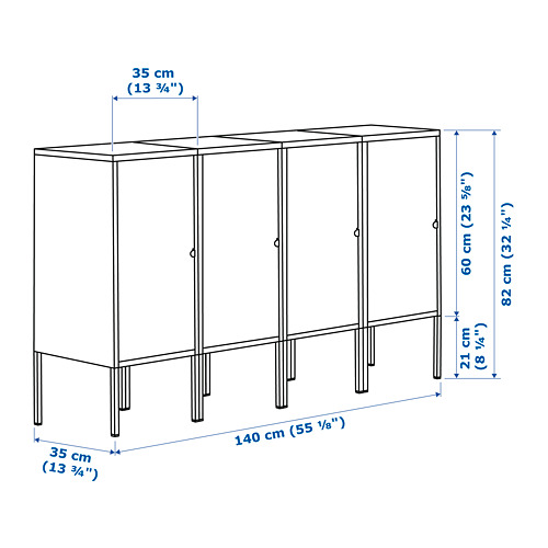 LIXHULT storage combination