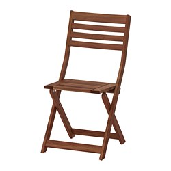 ÄPPLARÖ - chair, outdoor, foldable brown stained | IKEA Hong Kong and Macau - PE713007_S3