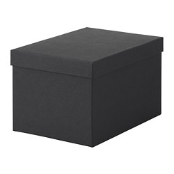 TJENA - storage box with lid, black | IKEA Hong Kong and Macau - PE664428_S3
