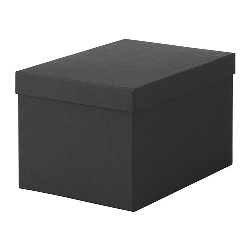 TJENA - storage box with lid, black | IKEA Hong Kong and Macau - PE664428_S4