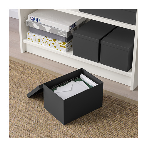 TJENA - storage box with lid, black | IKEA Hong Kong and Macau - PE664430_S4