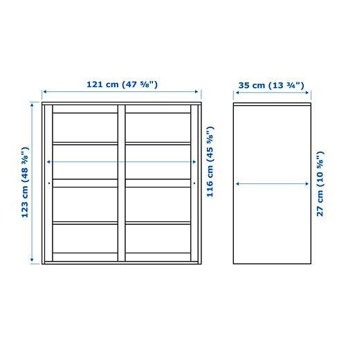 HAVSTA - 玻璃門貯物櫃, 白色 | IKEA 香港及澳門 - PE753598_S4