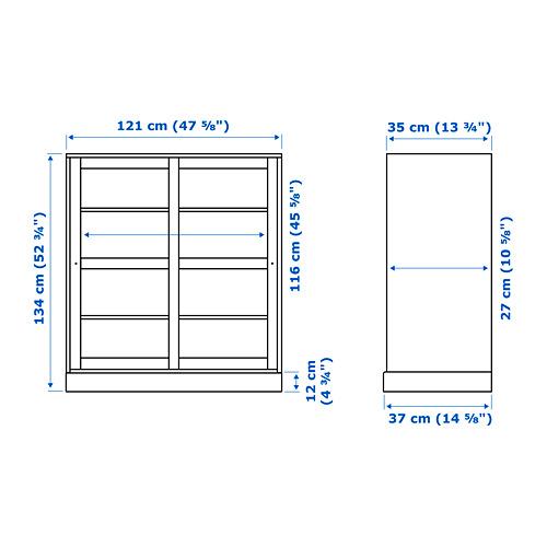 HAVSTA - 玻璃門貯物櫃連腳座板, 白色/透明玻璃 | IKEA 香港及澳門 - PE753607_S4