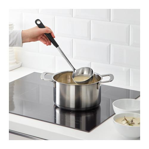 IKEA 365+ HJÄLTE - soup ladle, stainless steel/black   IKEA Hong Kong and Macau - PE610133_S4