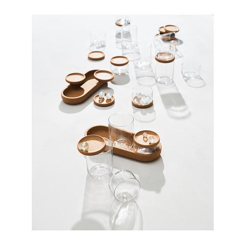 SAXBORGA - jar with lid and tray, set of 5, glass cork | IKEA Hong Kong and Macau - PH155849_S4