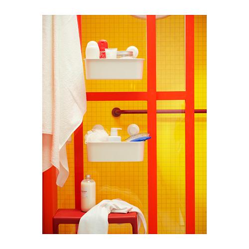 TISKEN - 貯物籃連吸盤, 白色 | IKEA 香港及澳門 - PH158070_S4