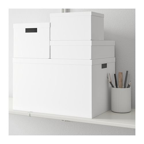 TJENA - storage box with lid, white | IKEA Hong Kong and Macau - PE664444_S4