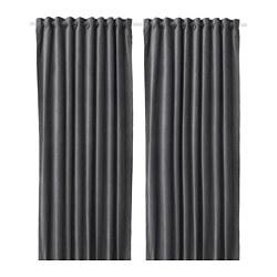 SANELA - 半遮光窗簾,一對, 深灰色 | IKEA 香港及澳門 - PE664471_S3