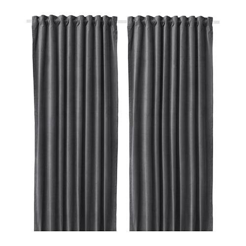 SANELA - 半遮光窗簾,一對, 深灰色 | IKEA 香港及澳門 - PE664471_S4