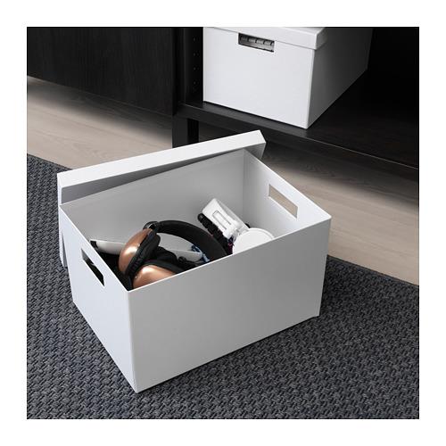 TJENA - 連蓋貯物盒, 白色 | IKEA 香港及澳門 - PE664490_S4