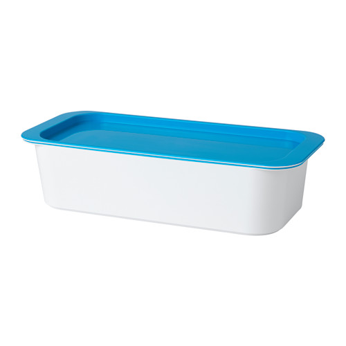 GESSAN - box with lid, white/blue | IKEA Hong Kong and Macau - PE549470_S4