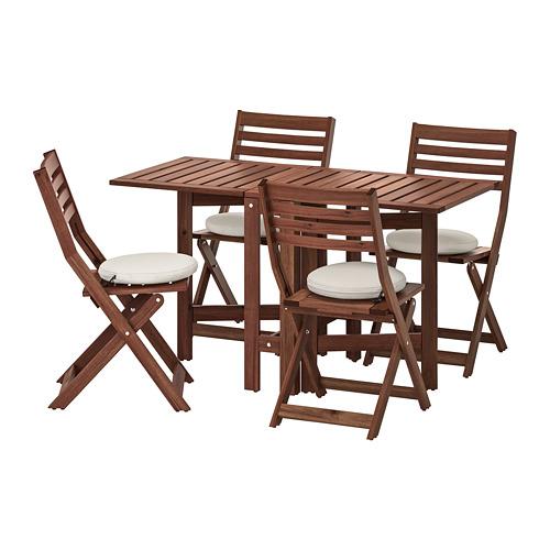 ÄPPLARÖ 戶外檯及4張摺椅
