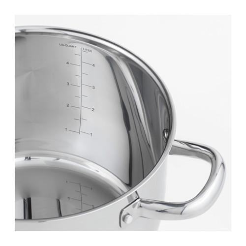 OUMBÄRLIG - 連蓋鍋 5升, 不銹鋼 | IKEA 香港及澳門 - PE610368_S4