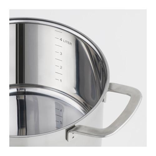 IKEA 365+ - 連蓋鍋 5升, 不銹鋼/玻璃 | IKEA 香港及澳門 - PE610370_S4