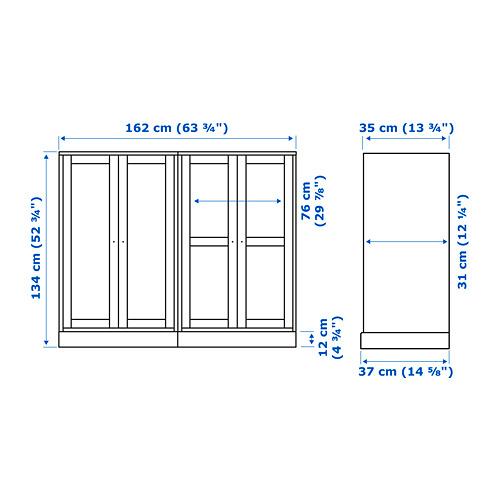 HAVSTA - storage combination w glass-doors, dark brown | IKEA Hong Kong and Macau - PE753690_S4