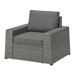 SOLLERÖN - armchair, outdoor, dark grey/Frösön/Duvholmen dark grey | IKEA Hong Kong and Macau - PE713444_S3