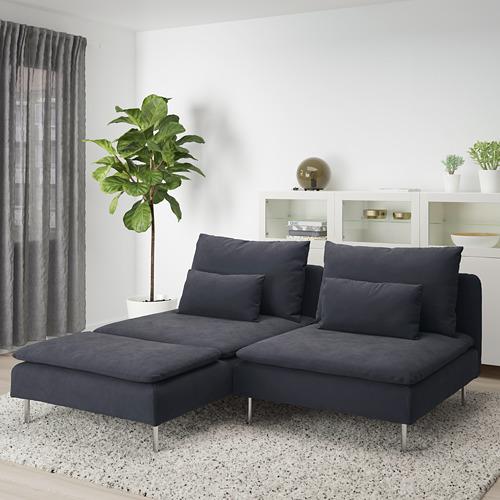 SÖDERHAMN - 兩座位梳化, 連躺椅/Samsta 深灰色 | IKEA 香港及澳門 - PE713456_S4