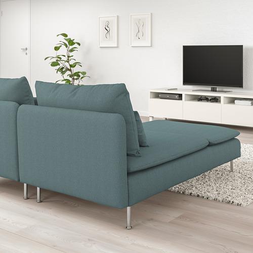 SÖDERHAMN - 2-seat sofa, with chaise longue/Finnsta turquoise | IKEA Hong Kong and Macau - PE713457_S4