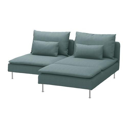 SÖDERHAMN - 2-seat sofa, with chaise longue/Finnsta turquoise | IKEA Hong Kong and Macau - PE713465_S4