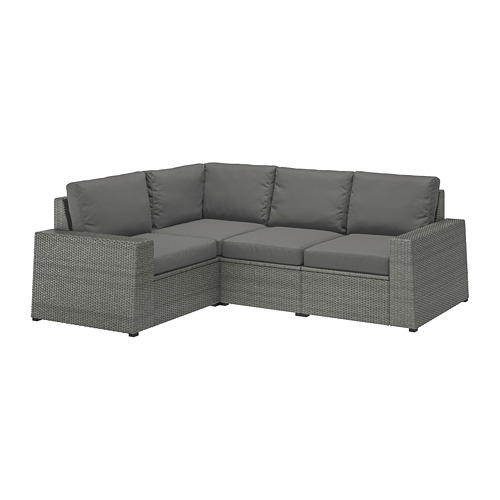 SOLLERÖN - modular corner sofa 3-seat, outdoor, dark grey/Frösön/Duvholmen dark grey | IKEA Hong Kong and Macau - PE713482_S4