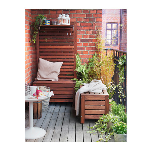 ÄPPLARÖ - storage bench, outdoor, brown stained | IKEA Hong Kong and Macau - PE316413_S4