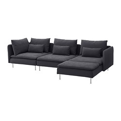 SÖDERHAMN - 四座位梳化, 連躺椅/Samsta 深灰色 | IKEA 香港及澳門 - PE713556_S3