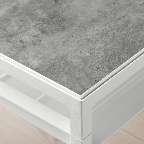 NYBODA - 茶几, 淺灰色 仿混凝土/白色   IKEA 香港及澳門 - PE753801_S4