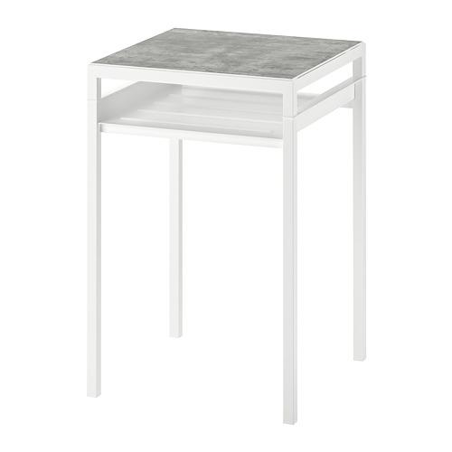 NYBODA - 角几, 淺灰色 仿混凝土/白色   IKEA 香港及澳門 - PE753799_S4