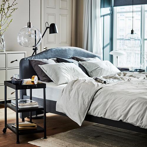 HAUGA - upholstered bed frame, Vissle grey, DOUBLE | IKEA Hong Kong and Macau - PH175117_S4