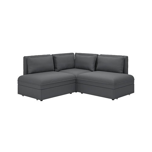 VALLENTUNA - 梳化床組合, 連貯物/Kelinge 炭黑色 | IKEA 香港及澳門 - PE809849_S4