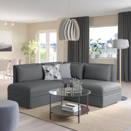 VALLENTUNA - 梳化床組合, 連貯物/Kelinge 炭黑色 | IKEA 香港及澳門 - PE809848_S4