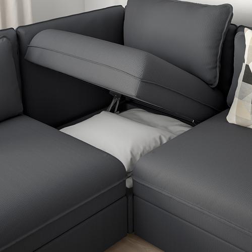 VALLENTUNA - 梳化床組合, 連貯物/Kelinge 炭黑色 | IKEA 香港及澳門 - PE809847_S4