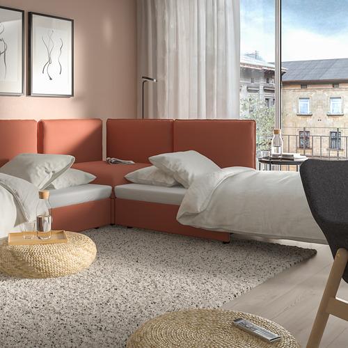 VALLENTUNA - modular crnr sofa 3-seat+2 sofa-bed, and storage/Kelinge rust | IKEA Hong Kong and Macau - PE809882_S4