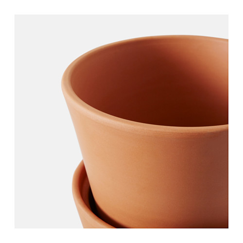INGEFÄRA - plant pot with saucer, outdoor/terracotta | IKEA Hong Kong and Macau - PE610654_S4