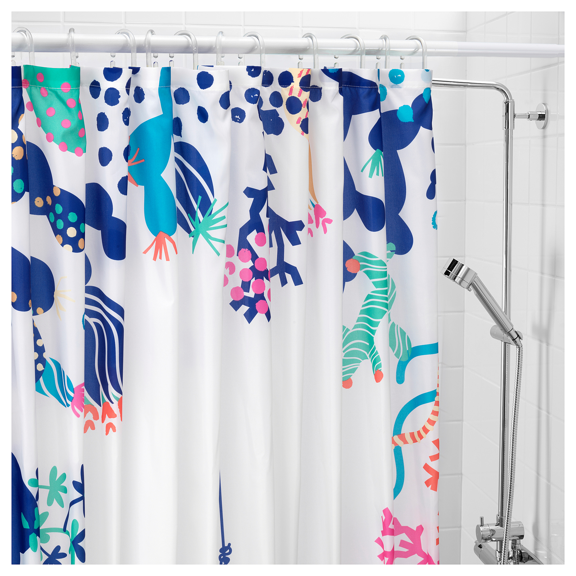 Lasjon Shower Curtain Multicolour Ikea Hong Kong