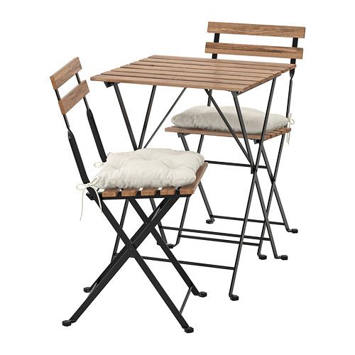 TÄRNÖ - table+2 chairs, outdoor, black/grey-brown stained/Kuddarna beige | IKEA Hong Kong and Macau - PE713691_S4