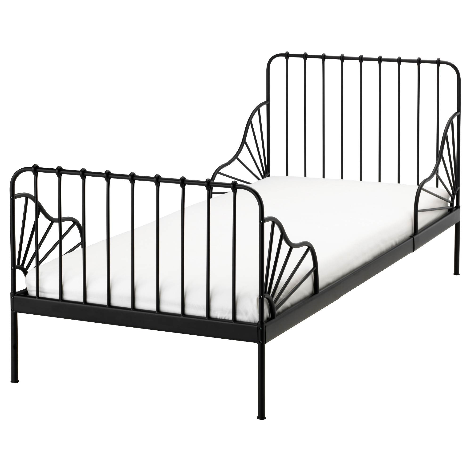 Picture of: Minnen Ext Bed Frame With Slatted Bed Base Black Ikea Hong Kong And Macau