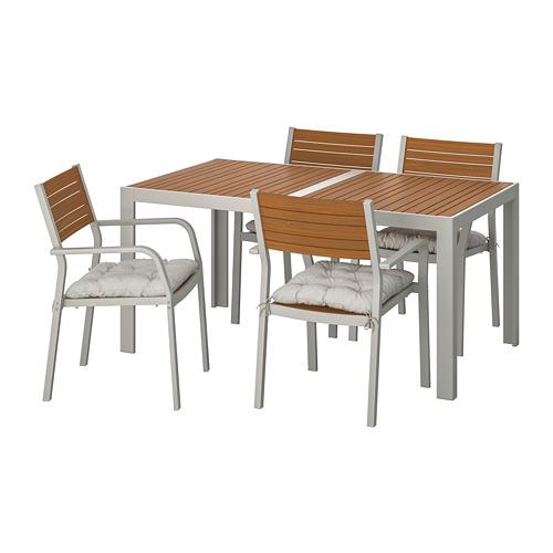 SJÄLLAND - 戶外檯連扶手椅組合, 淺褐色/Kuddarna 灰色 | IKEA 香港及澳門 - PE713855_S4