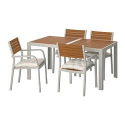 SJÄLLAND - 戶外檯連扶手椅組合, 淺褐色/Kuddarna 米黃色   IKEA 香港及澳門 - PE713854_S3
