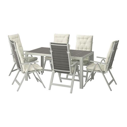 SJÄLLAND - 戶外檯連躺椅組合, 深灰色/Kuddarna 米黃色   IKEA 香港及澳門 - PE713891_S4
