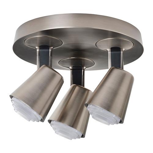 MONAZIT - 三頭天花射燈, 鍍鎳   IKEA 香港及澳門 - PE810125_S4