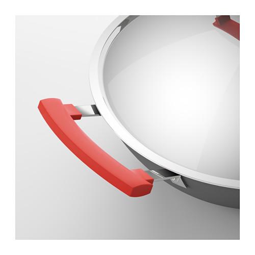 IDENTISK - 連蓋鑊 32厘米, 深灰色/鋁 | IKEA 香港及澳門 - PE610920_S4